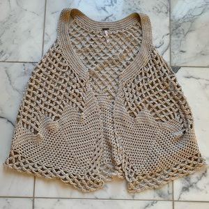 Free People Festival Ready Crochet Layering Vest